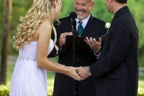Joyful ceremony
