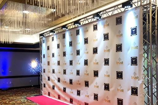 Step and repeat corporate event
