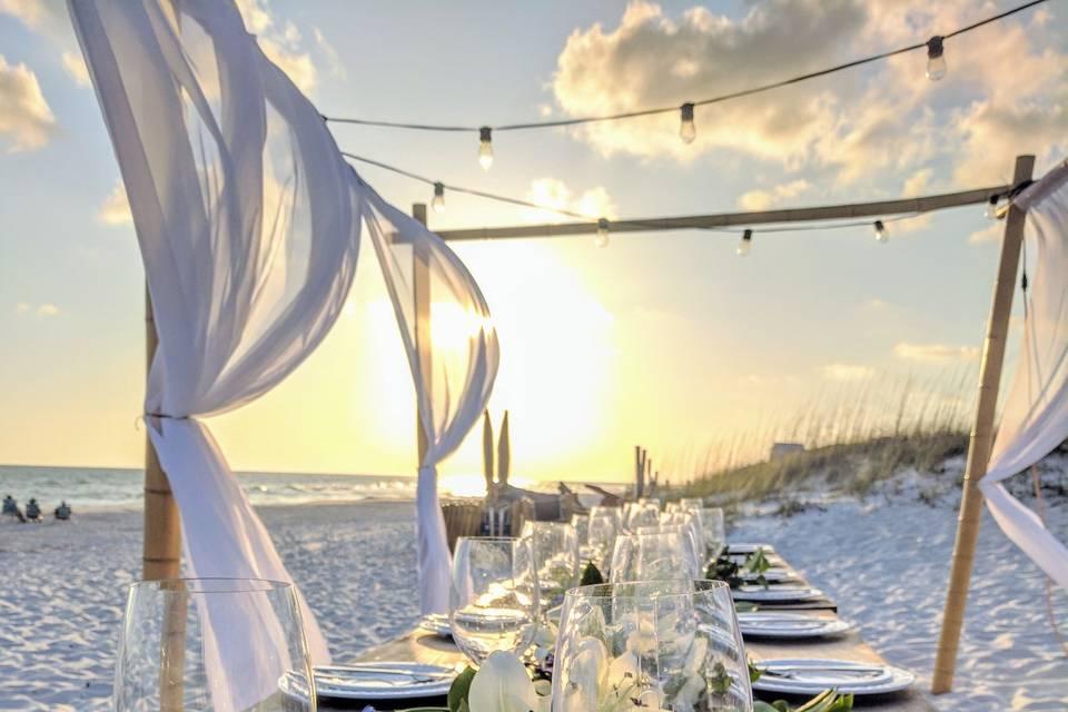 The sunset dinner