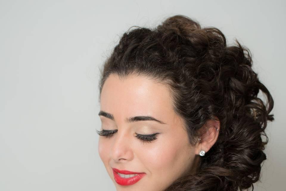 Curly Side Braid