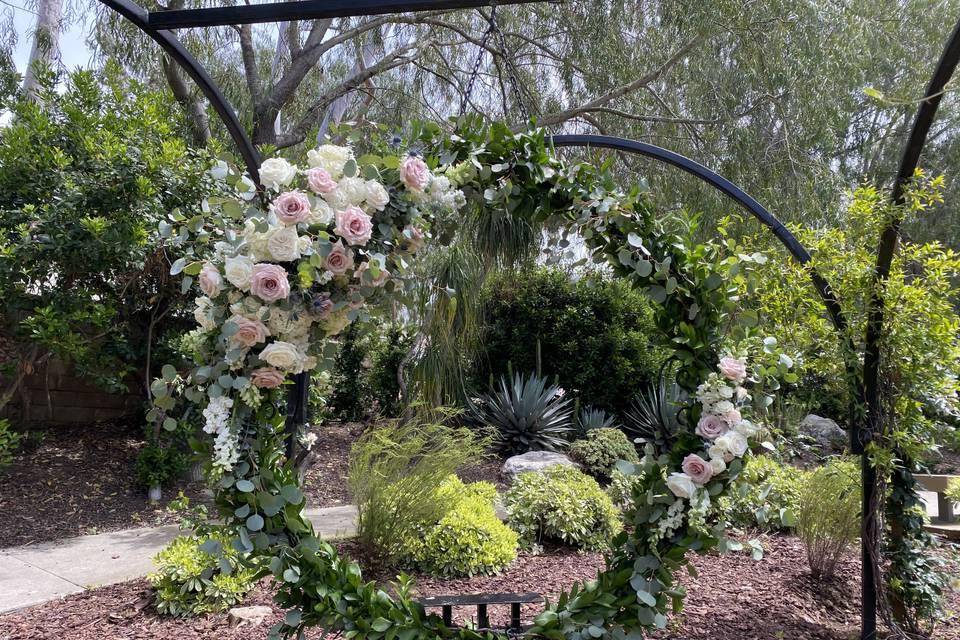Hoop flowers