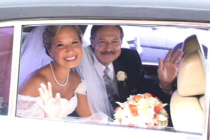 Beaming bride - Martin's Accent Wedding Videos