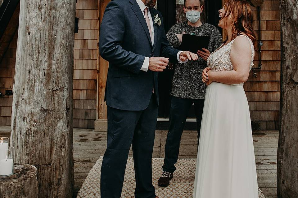 Performing a wedding