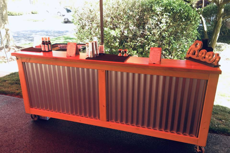 Rustic Wood Bar - 8