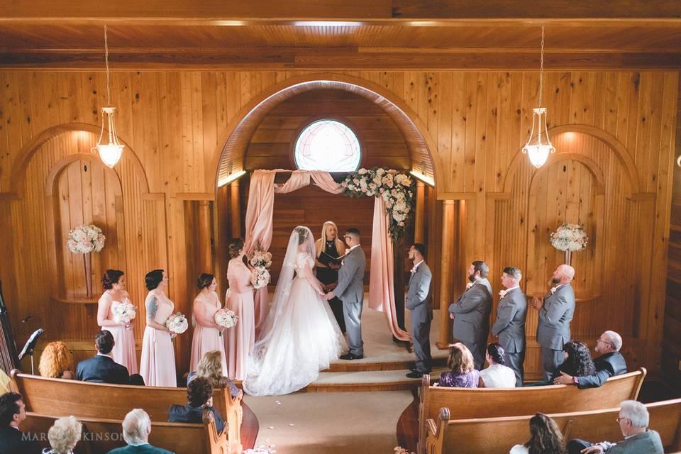 Drapery arch in Chapel