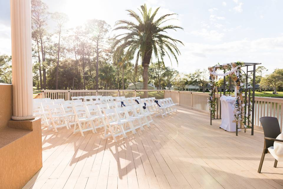 White ceremony chairs