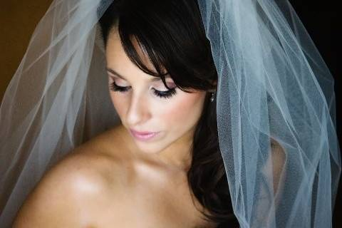 Bride makeup and custom lashes