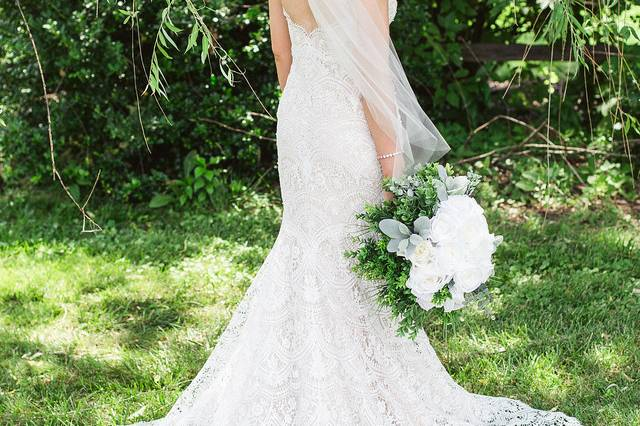 A bridal gown