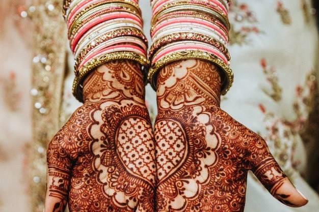 Henna design for the wedding!