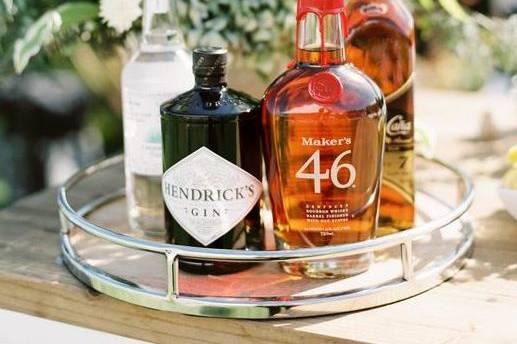 Groom's Suite liquor display