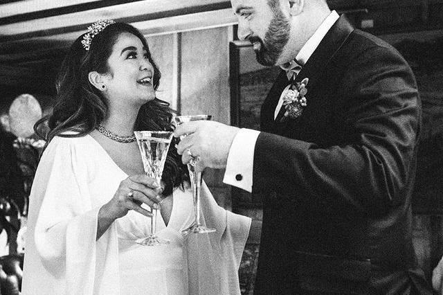 Toast between the newlyweds