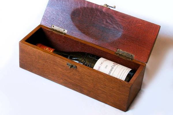 Exclusive Wine Gift Box, The Trousse, recycled oak wine barrel staves & tops
