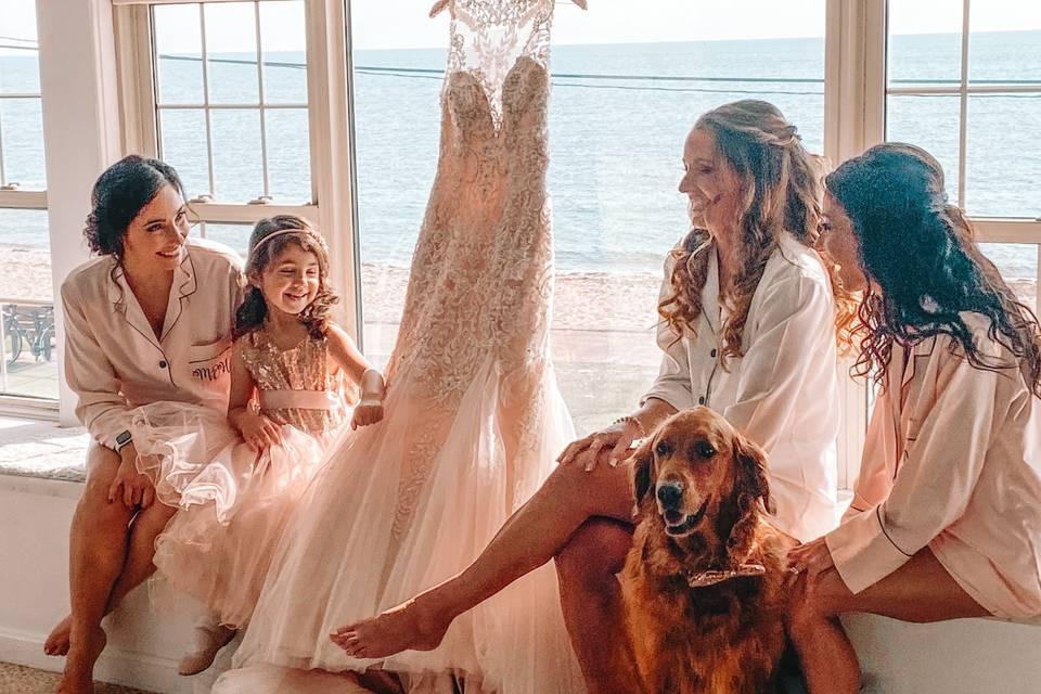 Bride and bridal group