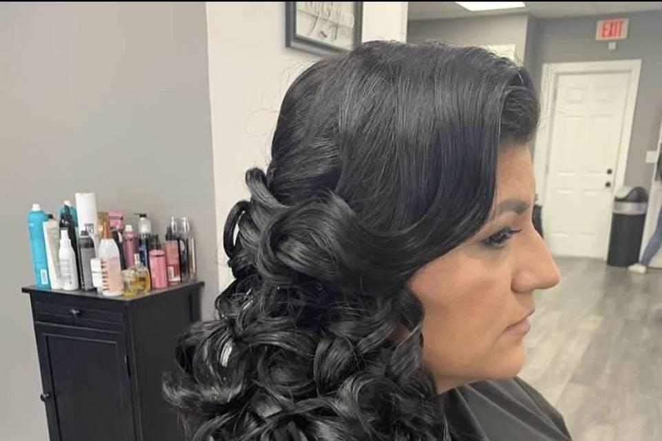 Side style bride