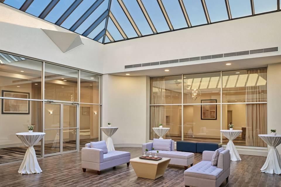 Atrium ideal for receptions