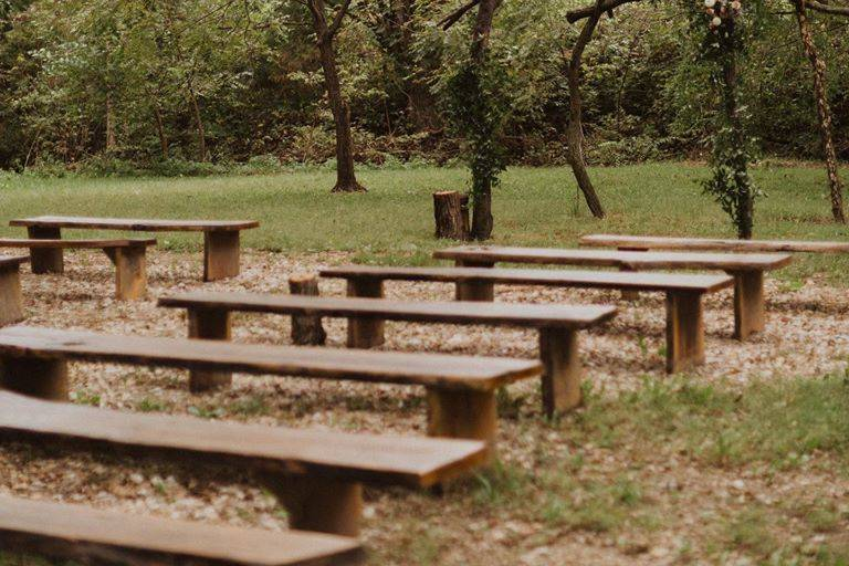 Quiet wedding garden