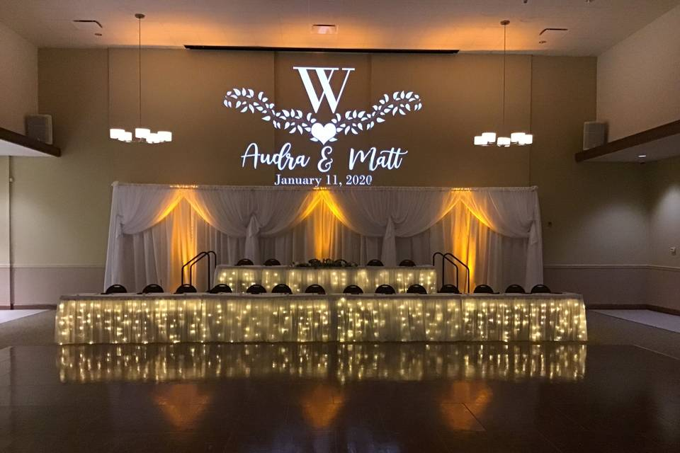 Head Table and Monogram