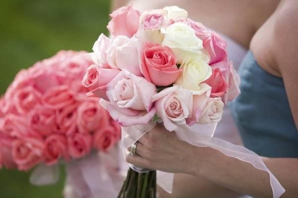 Bouquet in hand