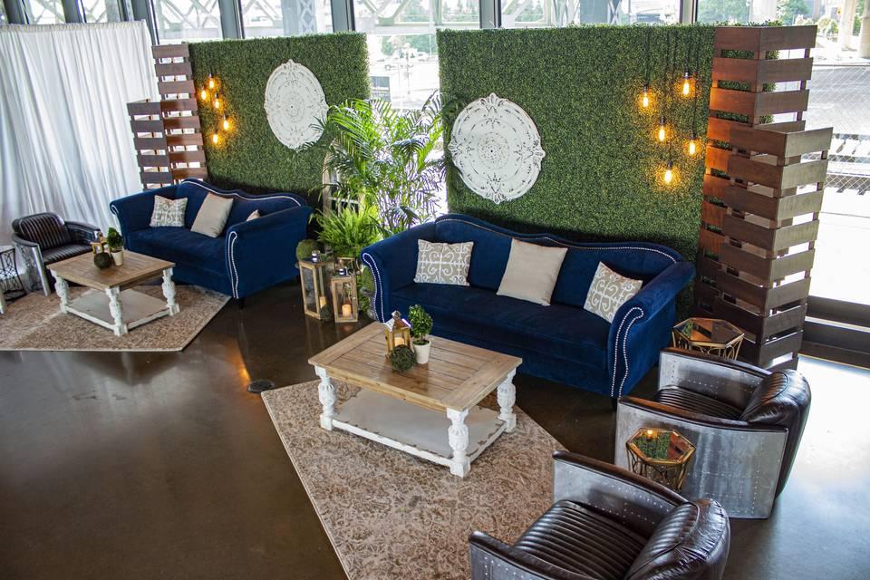 Elegant lounge decor