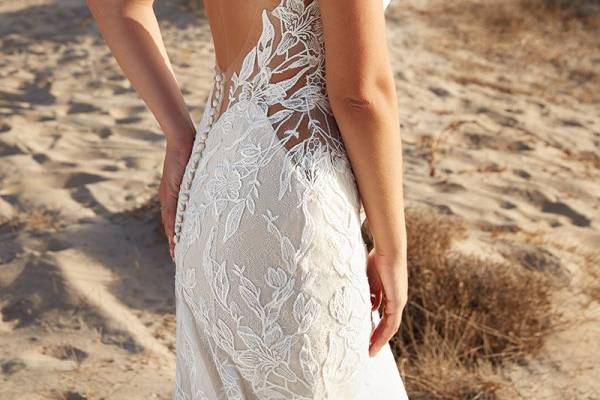 Low back and lace dress