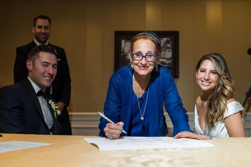 Signing of paperwork