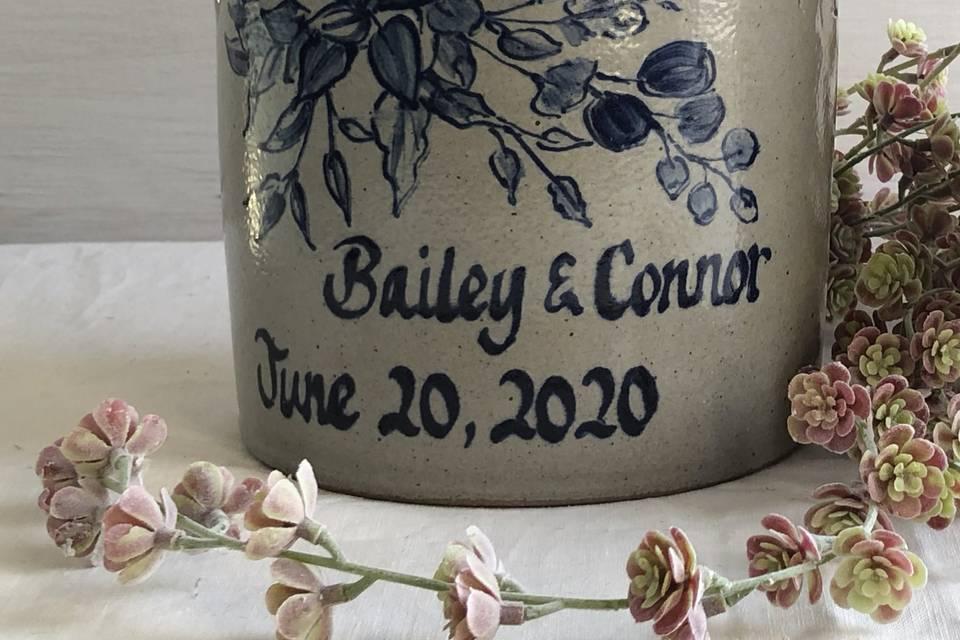 Custom Wedding Crock