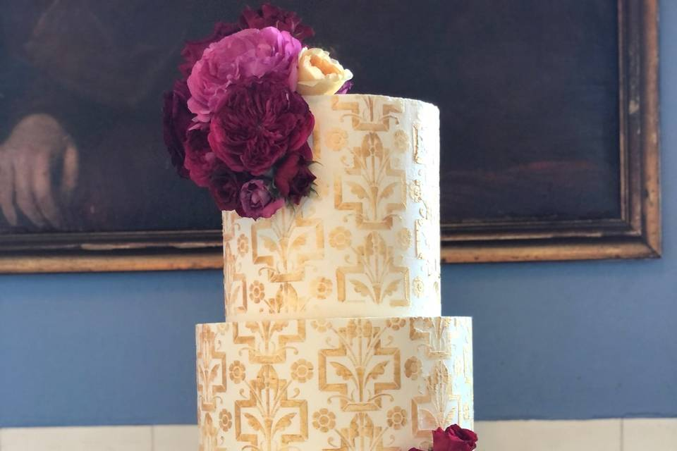 Custom Stenciled Cake