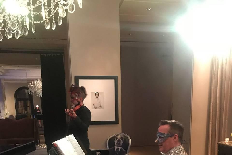 Scott performaing at Hotel ZaZa