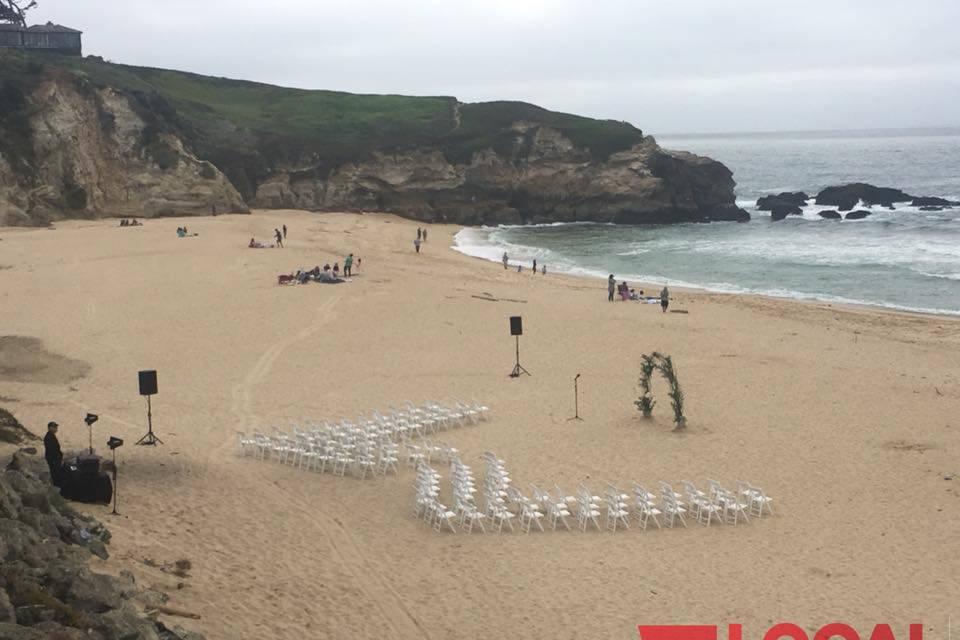 Off Grid Beach Ceremony