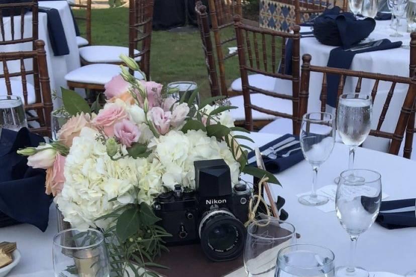 Centerpiece and camera