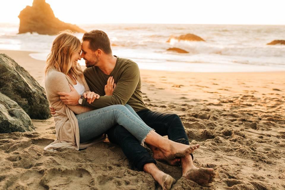 Engagement at Marshalls Beach