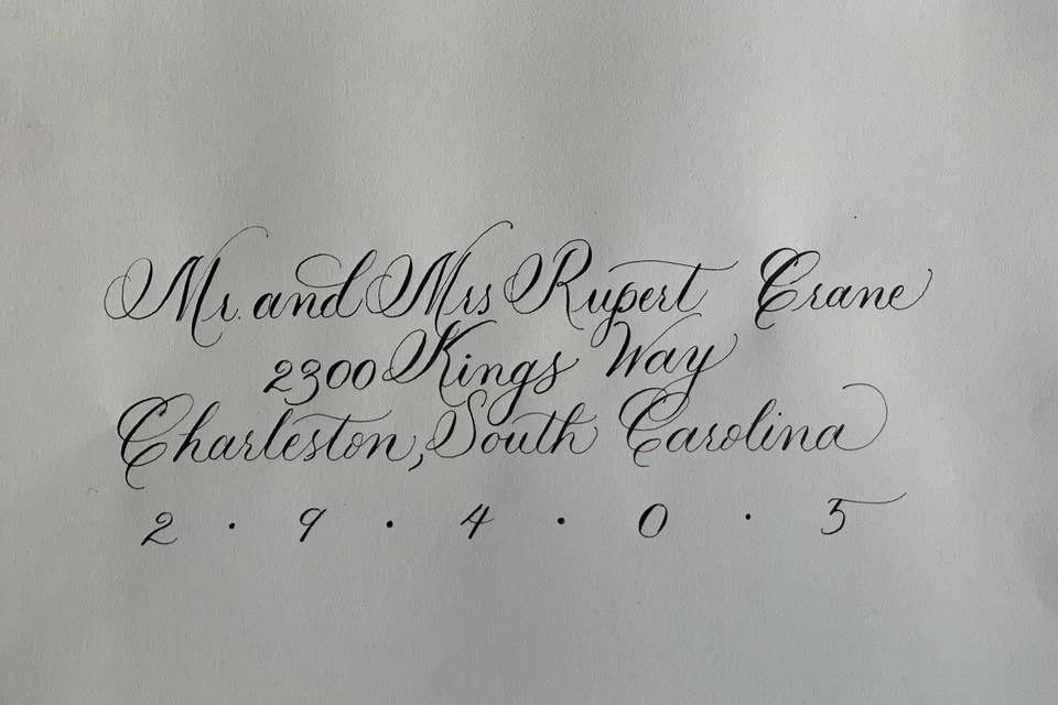 Joyful Writing Girl Calligraphy