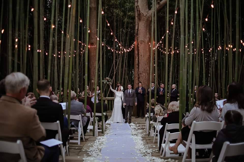 Outdoor Bamboo Ceremony Site