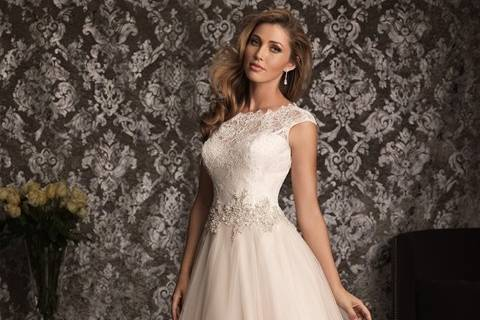 Beautiful Allure romantic lace ball gown available in our store to try on!