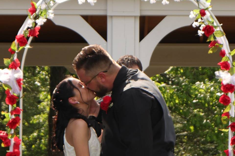 First kiss married