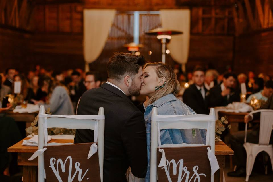 A sweet moment at the top table
