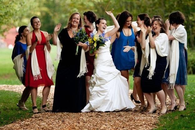 Happy bride with her bridesmaids!