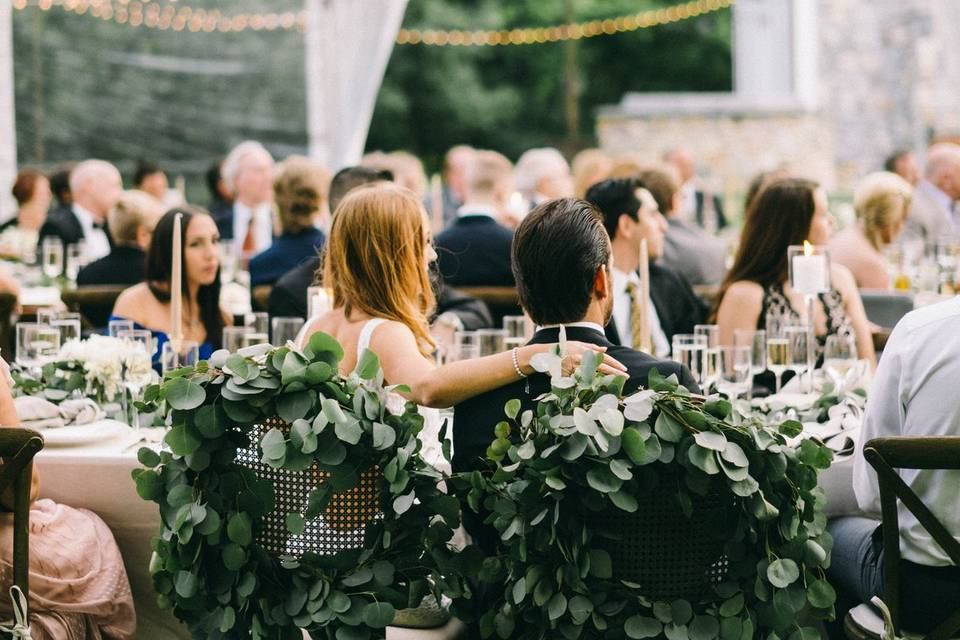 Bride and Groom Chair Greens