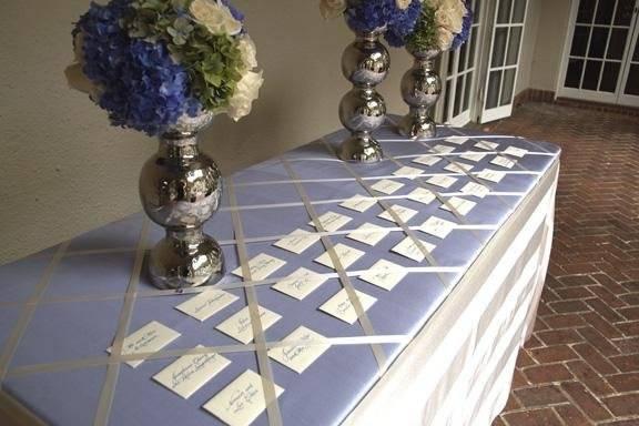 Escort Table in the Spanish Courtyard of Villa Montalvo