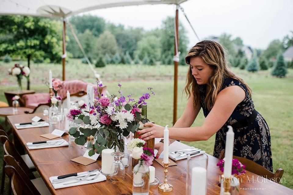 Backyard Olcott Wedding