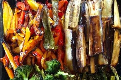 Grilled veggie board