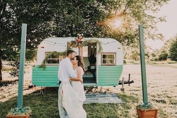Photo booth camper van