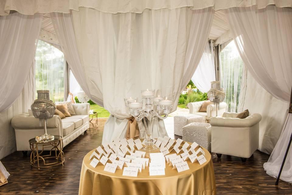 Tent wedding JM Wed