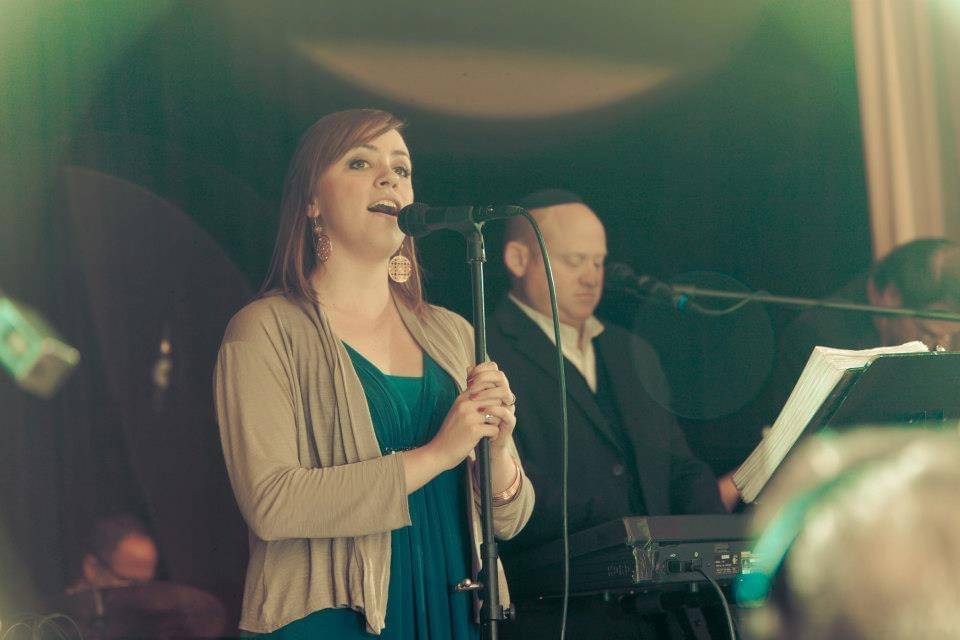 Mazie performing at wedding