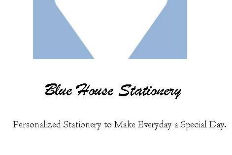 Blue House Stationery