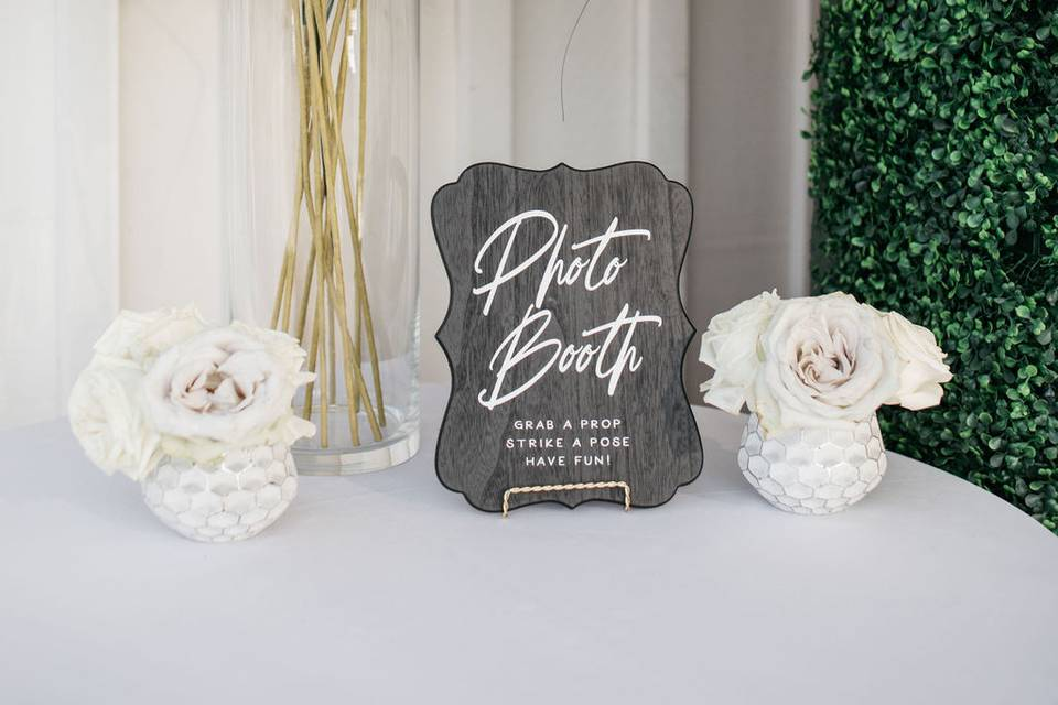 For a photo booth