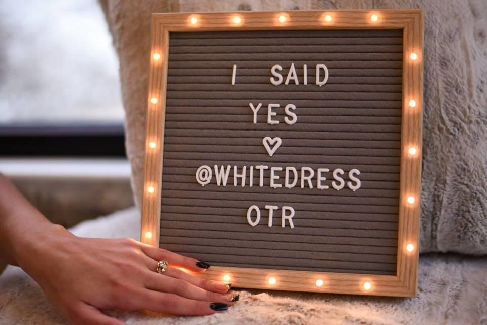Dress signage