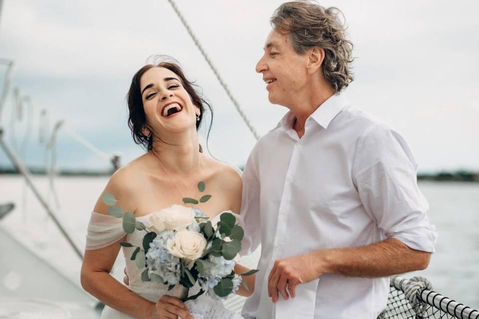 Wedding on schooner freedom