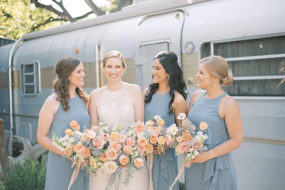 Bride + Bridesmaids!