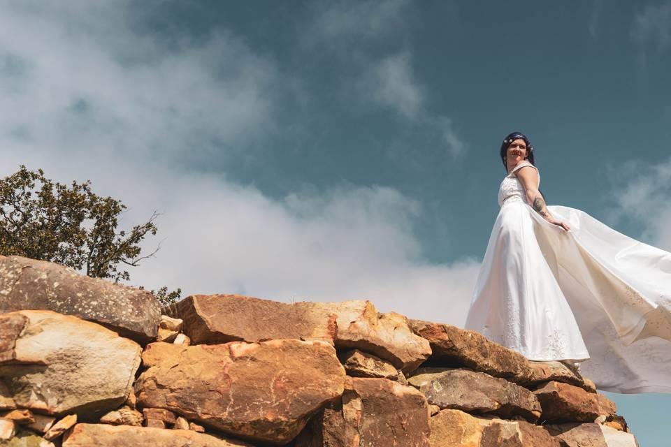 Elegant mountaintop wedding